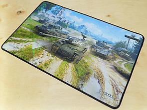 Килимок для миші ігрова поверхня танки Берлінська пятірка
