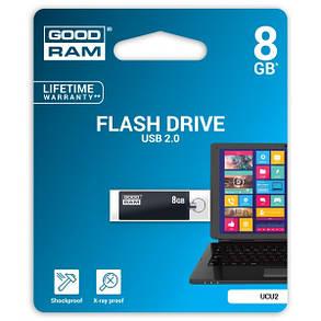 Флеш-накопитель USB  8GB GOODRAM UCU2 (Cube) Black (UCU2-0080K0R11), фото 2