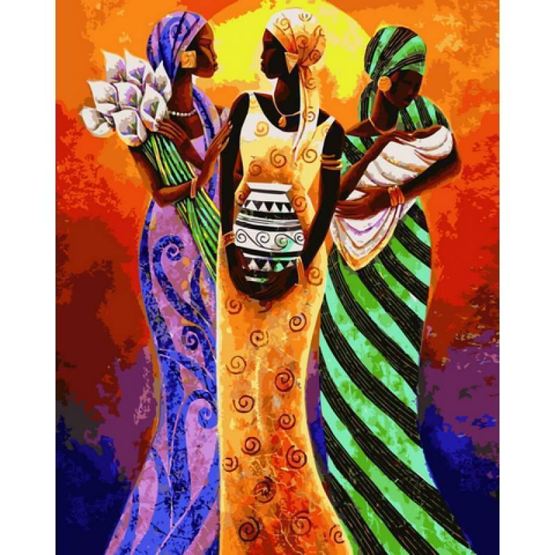 Картина рисование по номерам Babylon Африканские мотивы 40х50см VP415new набор для росписи, краски, кисти,