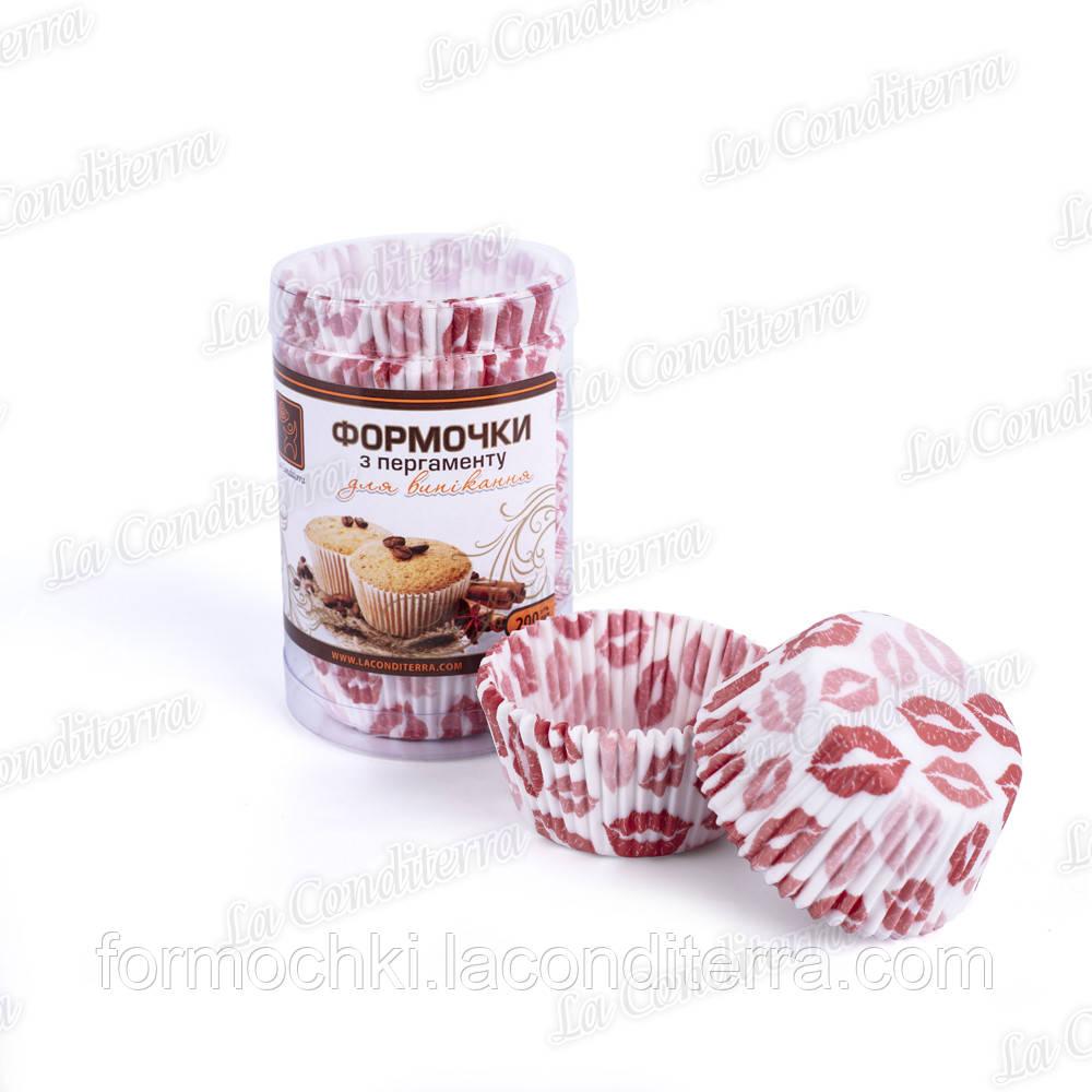 Форми для кексів в тубусі «Поцілунки» 7а (Ш 50, бортик – 30 мм), 200 шт.
