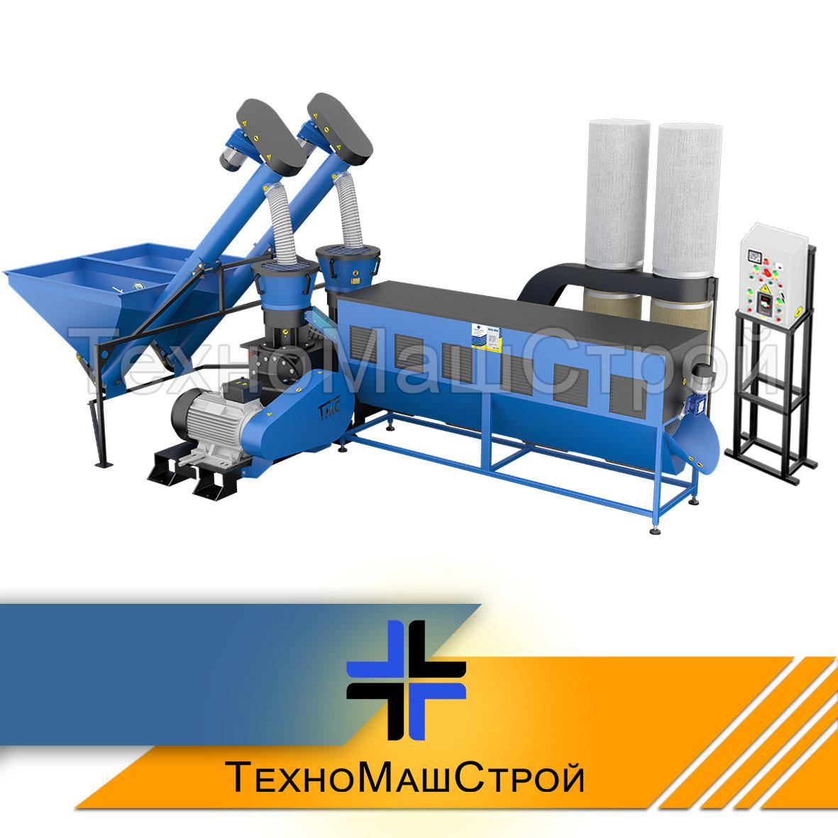 Оборудование для производства пеллет и комбикорма МЛГ-1000 DUO (производительность 1400 кг\час)