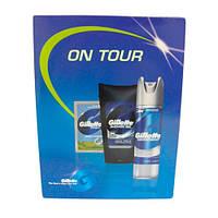 Gillette Series On Tour (бальзам после бритья 3 мл+гель для душа 200 мл + дезодорант аэрозольный 200 мл) НАБОР