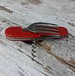 Многофункциональный туристический набор / 5560. Карманный складной нож мультитул с ложкой и вилкой., фото 4