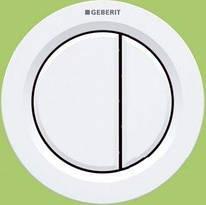 TYPE01 пневмокнопка управления смывом унитаза, двойной смыв, белый