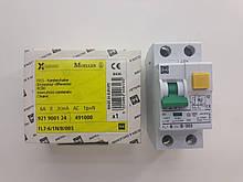Дифференциальный автоматический выключатель Moller FL7-6/1N/B/0.03, 1P+1N, 6A, 30mA, кат.B, артикул 921900124