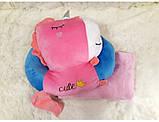 Плед - мягкая игрушка 3 в 1 (Единорог розово-синий), фото 2