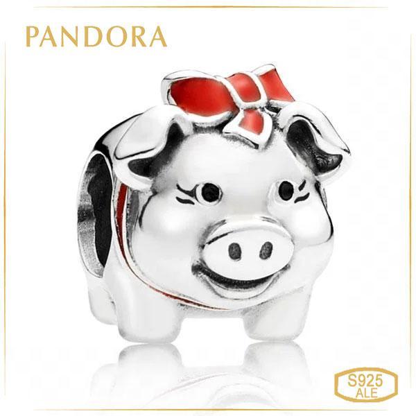 Пандора Шарм Свинка скарбничка Pandora 791809ENM