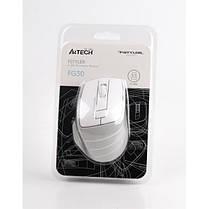 Мышь беспроводная A4Tech FG30 Grey/White USB, фото 3