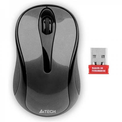 Мышь беспроводная A4Tech G3-280N Grey USB V-Track, фото 2