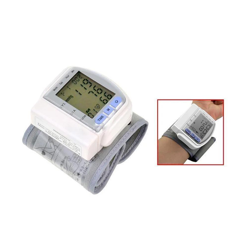 Автоматичний Тонометр для вимірювання тиску пульсу пульсометр на зап'ясті електричний на руку танометр