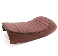 Мото сиденье на байк, кастом, седло Bobber Seat  + крепления, коричневая