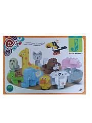 Детский блочный конструктор Животные, 108 деталей