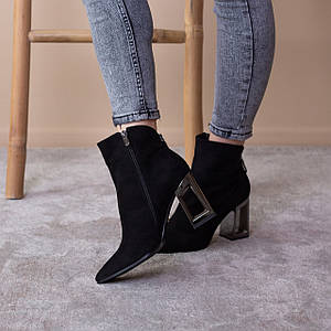 Ботильоны женские Fashion Brummy 2542 35 размер 23 см Черный
