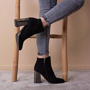 Ботильоны женские Fashion Caruso 2553 35 размер 23 см Черный