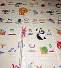 Дитячий двосторонній термо-килимок 2000 * 1800 | Ігровий підлоговий двосторонній складаний килимок Дитячий, фото 2