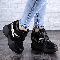 Женские сникеры Fashion Shadow 2057 40 размер 24,5 см Черный