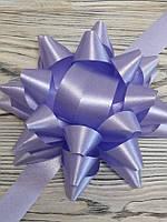 Бант декоративный диаметр 12см, цвет сиреневый с лентой