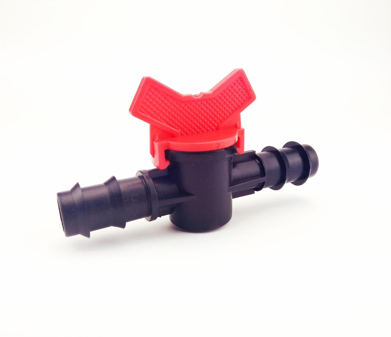 Кран з'єднувальний прохідний для трубки 20 мм