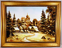 Пейзаж Зима в деревне П-62  40*60
