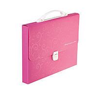 Портфель пластиковый A4 / 35мм, BAROCCO, розовый BM.3719-10