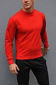 Красный свитшот, унисекс, весна-осень