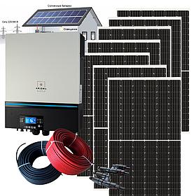 7 кВт автономная солнечная электростанция с инвертором Axioma ISMPPT BFP 7200 МРРТ с контроллером без АКБ
