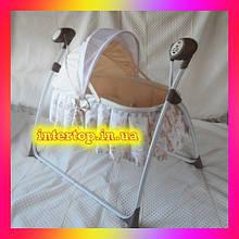 Детская люлька кроватка и укачивающий центр для новорожденных 2 в 1 Carrello CRL-7501 Canary Yellow желтый