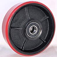 Рулевое колесо 160x50 чугун/полиуретан, ступица 50 мм 160/50