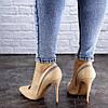 Женские туфли лодочки на шпильке Fashion Shiro 2073 38 размер 24,5 см Бежевый, фото 2