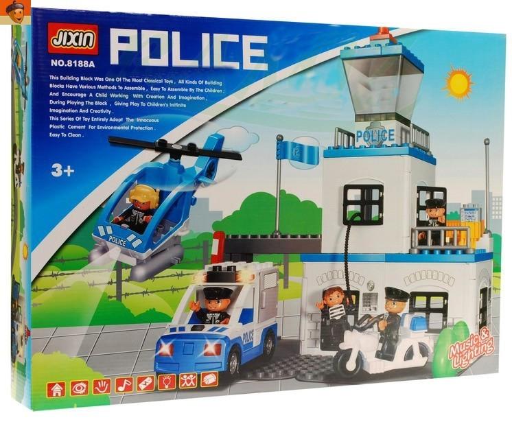 Конструктор JIXIN 8188A Полицейский участок, 63 детали