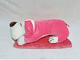 Плед - мягкая игрушка 3 в 1 (Собака розовая), фото 3