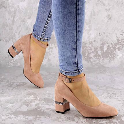 Женские туфли на каблуке Fashion Bruno 2183 36 размер 23,5 см Пудра, фото 2