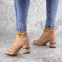 Жіночі туфлі на підборах Fashion Bruno 2183 36 розмір, 23,5 см Пудра, фото 3