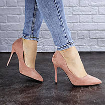 Жіночі туфлі на підборах Fashion Cleo 1928 38 розмір 24,5 см Рожевий, фото 2