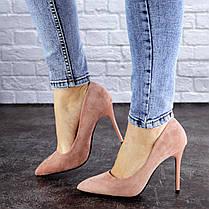 Жіночі туфлі на підборах Fashion Cleo 1928 38 розмір 24,5 см Рожевий, фото 3