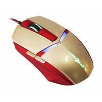 Мышь Maxxter G1 Iron Claw Gold/Red USB