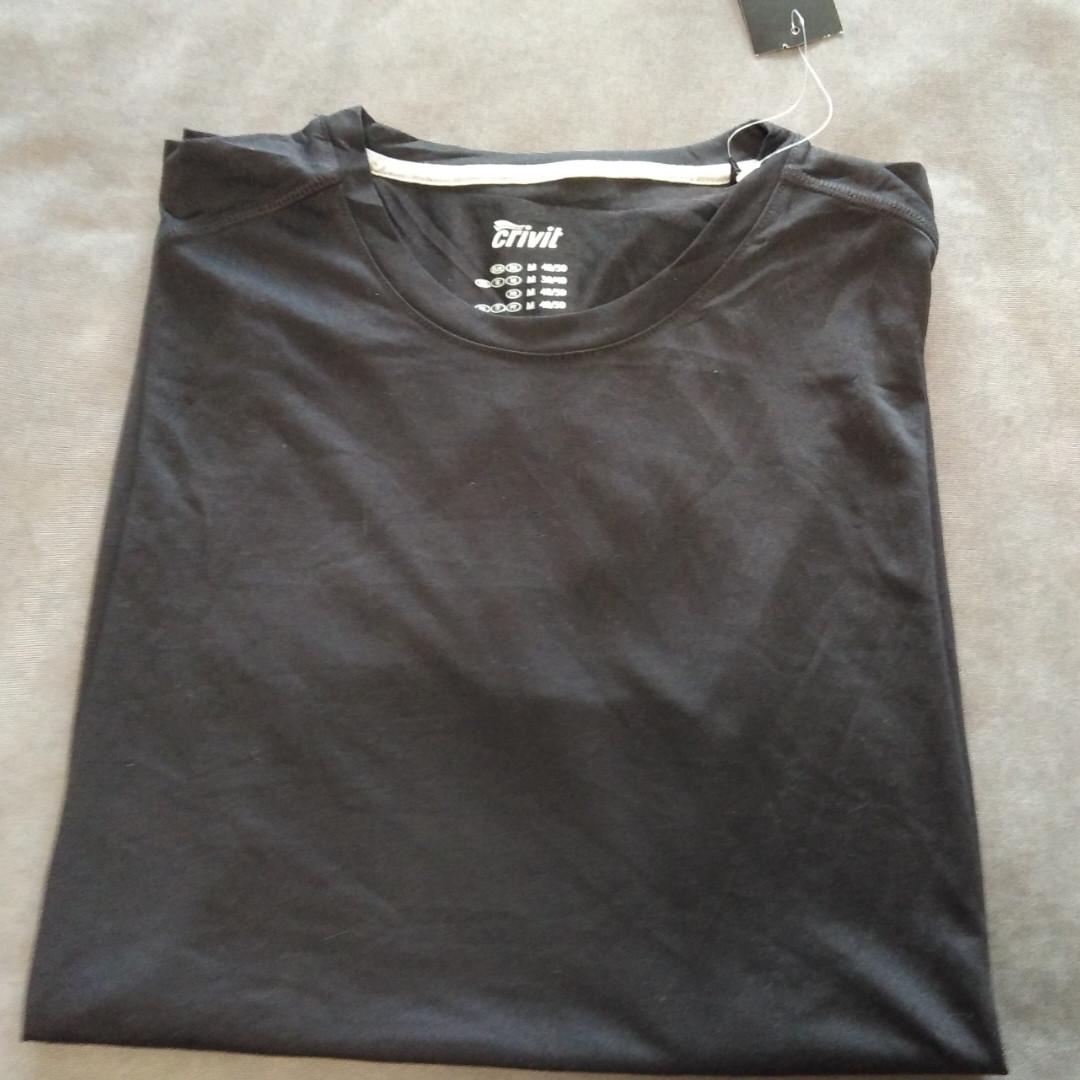 Чорна чоловіча футболка від Crivit