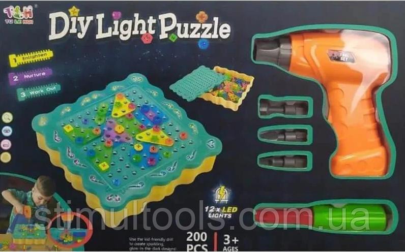 "Конструктор Tu Le Hui ""Diy Light Puzzle"" (200 деталей) 12LED TLH-19"