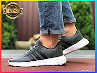 Мужские кроссовки (серые) Демисезонные Летние кроссовки Адидас