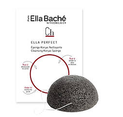 Очищающий спонж конняку с бамбуковым углем Ella Bache Konjac Sponge