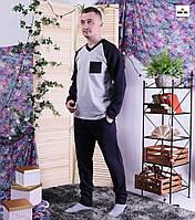 Чоловіча піжама тепла сіра кофта зі штанами 48-60р.
