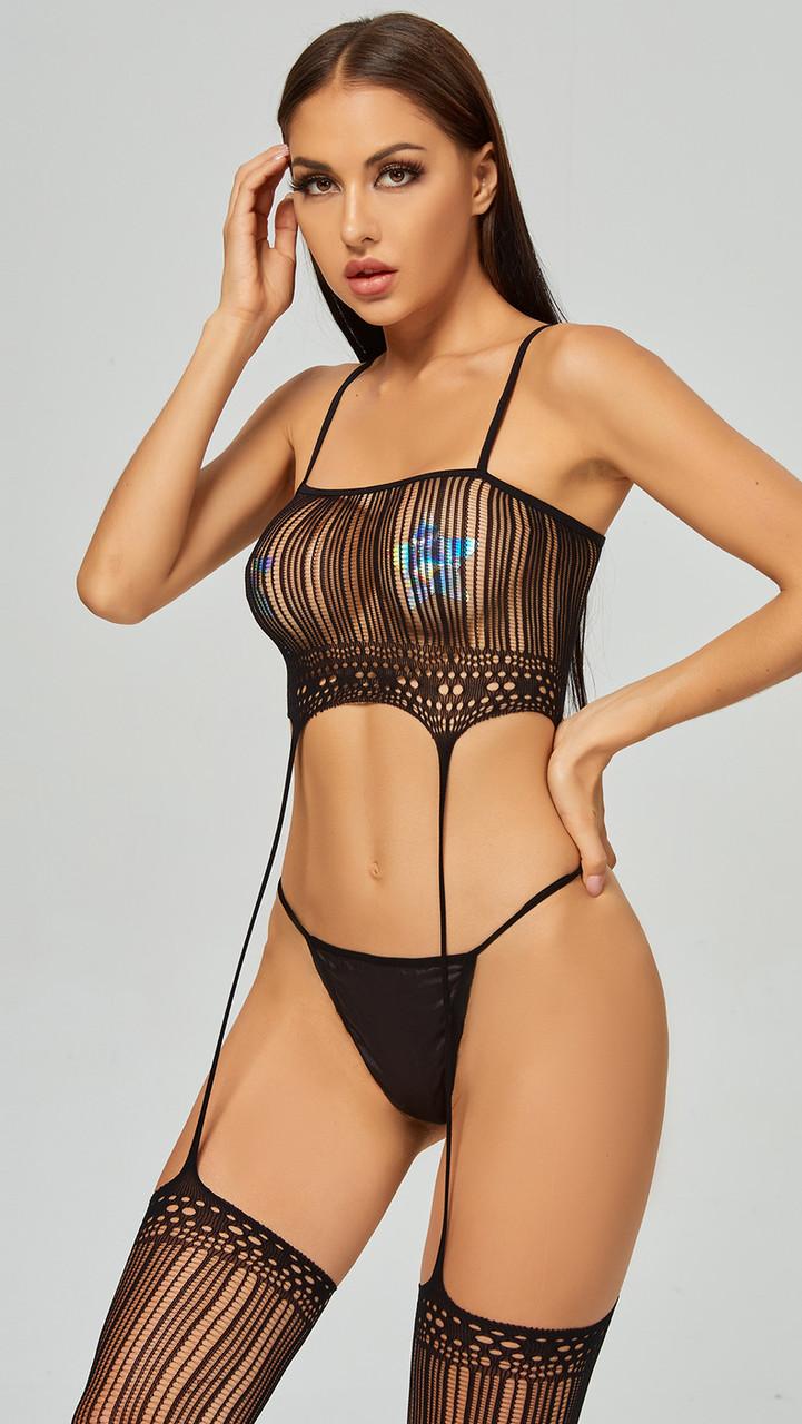 Боді сітка сексуальный боди-сетка комбинезон бодистокинг сексуальное белье эротическое белье