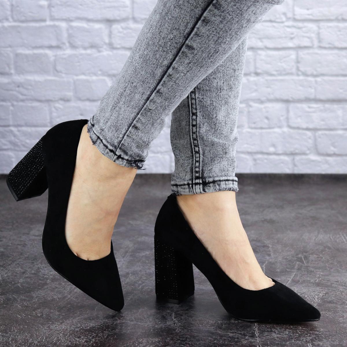 Женские туфли на каблуке Fashion Skye 2016 37 размер 24 см Черный