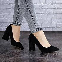 Женские туфли на каблуке Fashion Skye 2016 37 размер 24 см Черный, фото 3