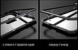 Магнитный чехол со стеклянной задней панелью для Samsung Galaxy S7 Edge, фото 4