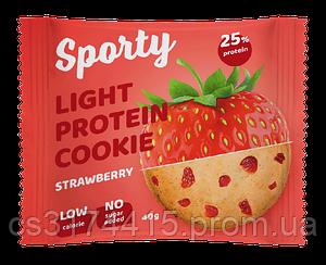 Протеиновое печенье Sporty Light Клубника (40 грамм)