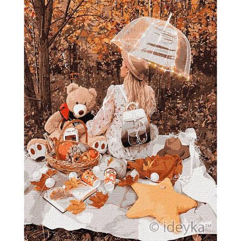 Картина по номерам Осенний пикник КНО4778, 40х50см. Идейка, фото 2