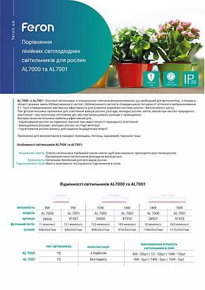 Светодиодный фито светильник для растений Feron AL7001 9W 60см т5 (41351), фото 3
