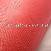 Фатин светлый кораллово-розовый, 3 м, средней жесткости