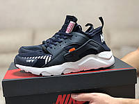 Мужские кроссовки Baas (темно-синие с белым) модные спортивные демисезонные кроссы 10205